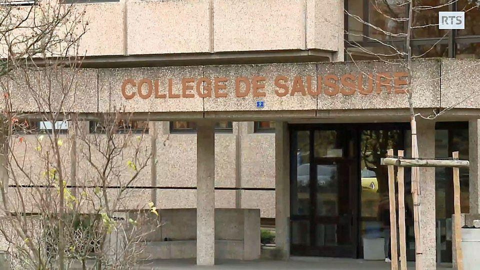 L'entrée du collège genevois de Saussure. [RTS]