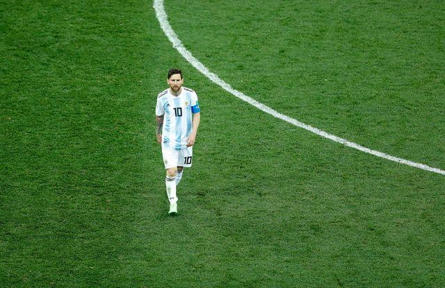 Lionel Messi après la défaite 3-0 contre la Croatie. [Ritchie B. Tongo - EPA/Keystone]
