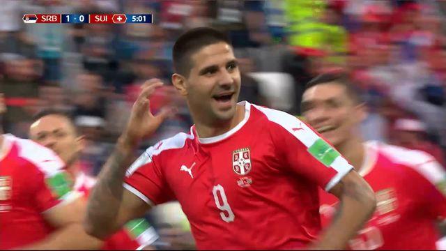 Gr.E, Serbie – Suisse (1-0) : ouverture du score pour les Serbes par Mitrovic de la tête [RTS]