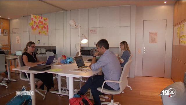 Coworking: le secteur est en forte expansion depuis quelques années, de la multinationale à de toutes petites structures [RTS]