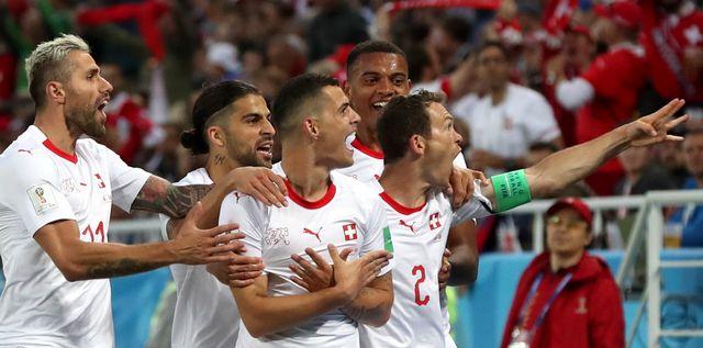 Granit Xhaka a inscrit un but incroyable à la Serbie. [Martin Divisek - Keystone]