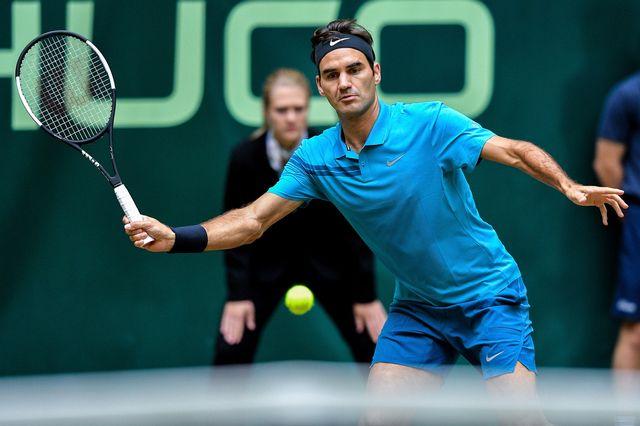 Roger Federer a réussi un match solide pour se hisser en finale. [Sascha Steinbach - Keystone]