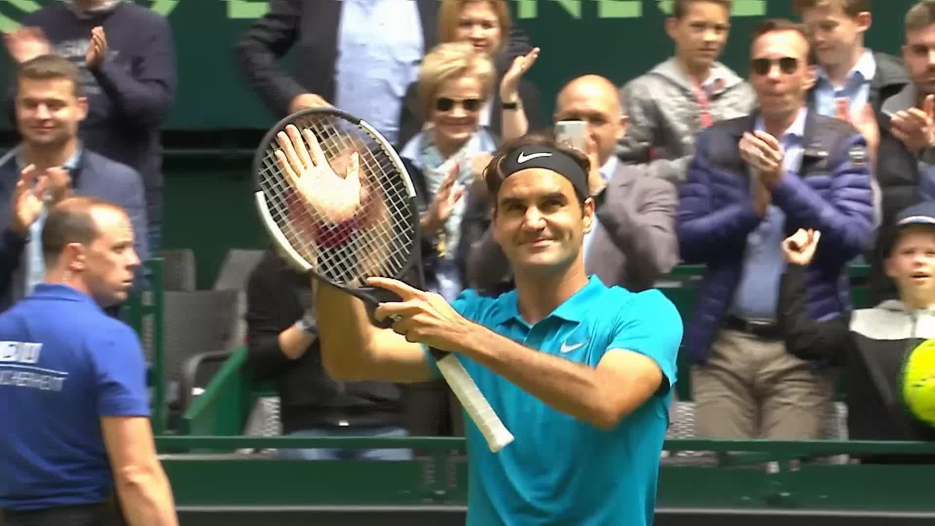 Halle 1-2 Federer  Kudla 7-6 7-5 le Suisse se qualifie pour la finale