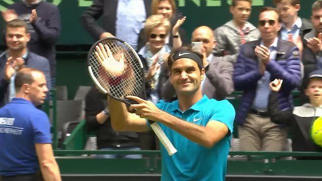 Halle 1-2, Federer (SUI) - Kudla (USA) 7-6 7-5: le Suisse se qualifie pour la finale [RTS]