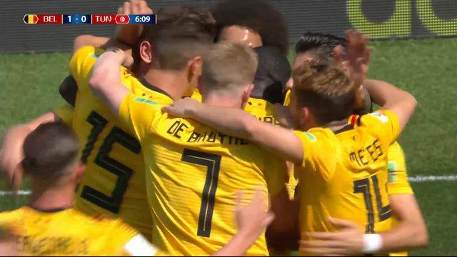 Gr. F, Belgique - Tunisie 1-0: 6e penalty transformé par Eden Hazard [RTS]