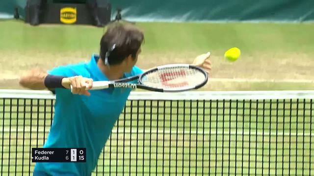 La frustration de Federer après un point perdu [RTS]