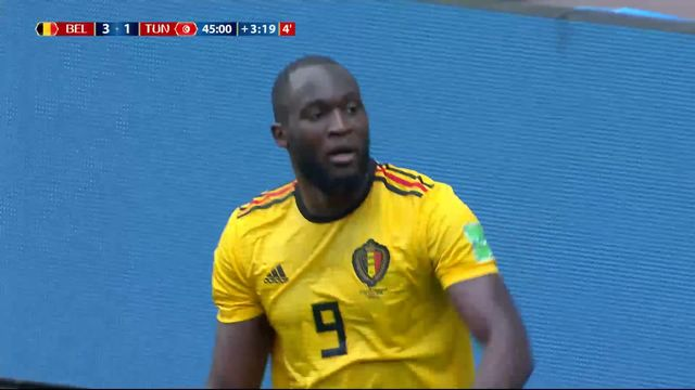Gr. G, Belgique - Tunisie 3-1: 48e Romelu Lukaku [RTS]