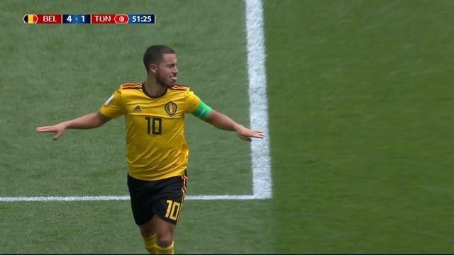 Gr. G, Belgique - Tunisie 4-1: 51e Eden Hazard [RTS]