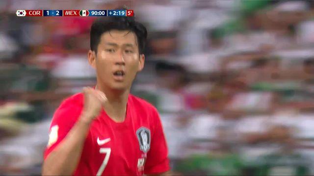 Gr. F, Corée du Sud - Mexique 1-2: 93e Heung-Min Son [RTS]