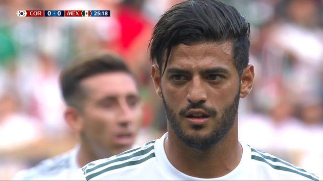 Gr.F, Corée du Sud - Mexique 0-1, 26e penalty transformé par Carlos Vela [RTS]