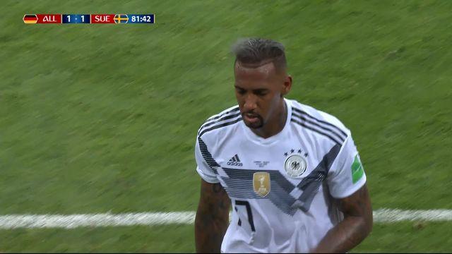 Gr.F, Allemagne – Suède (1-1): 82e, carton rouge contre Jérôme Boateng [RTS]