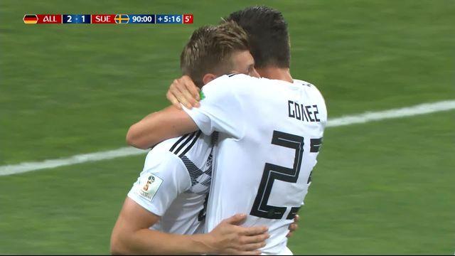 Gr.F, Allemagne – Suède (2-1): 95e, Toni Kroos sauve miraculeusement l'Allemagne! [RTS]