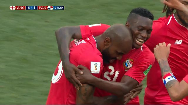 Gr.G, Angleterre – Panama (6-1) : Le Panama sauve l'honneur par Baloy [RTS]