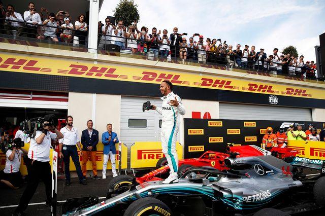 Hamilton a ainsi remporté un 23e Grand Prix différent dans sa carrière. [Yoan Valat - Keystone]