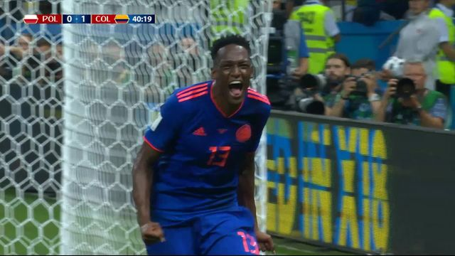 Gr. H, Pologne - Colombie 0-1: 40e Yerry Mina [RTS]