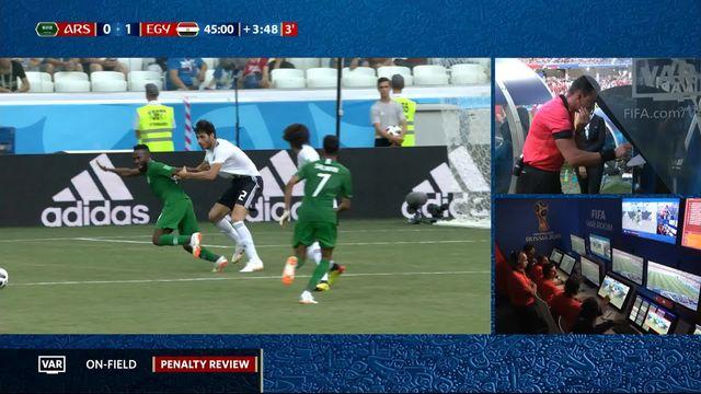 Gr.A, Arabie Saoudite - Egypte (1-1): 49e, Faraj marque sur penalty après consultation de la VAR [RTS]