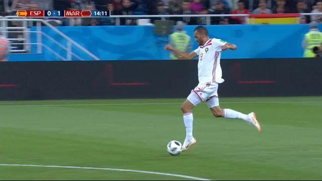 Gr.B, Espagne – Maroc (0-1): 14e, Boutaib ouvre le score après une mésentente entre Iniesta et Ramos [RTS]