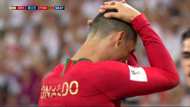 Gr.B, Iran - Portugal (0-1): 53e, le penalty manqué de Ronaldo [RTS]