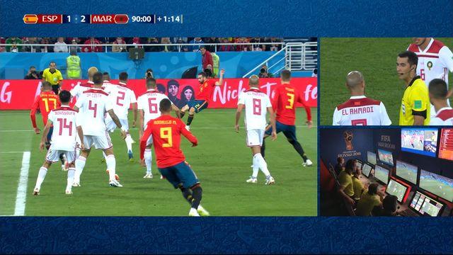 Gr.B, Espagne – Maroc (2-2): 92e, Aspas égalise pour l'Espagne [RTS]