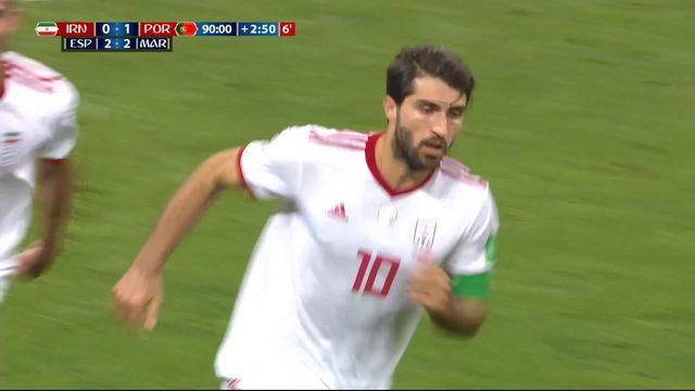 Gr.B, Iran - Portugal (1-1): 93e, Ansarifard égalise sur un penalty sifflé avec l'aide de la VAR [RTS]