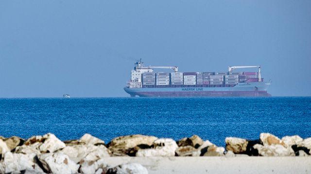 Le cargo Alexander Maersk au large de la Sicile. [Salvatore Cavalli - AP/Keystone]