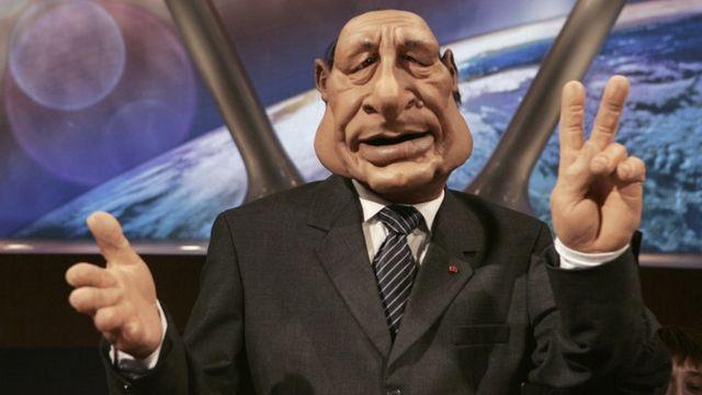 Le personnage de Jacques Chirac était emblématique des Guignols. [Olivier Laban-Mattei - AFP]