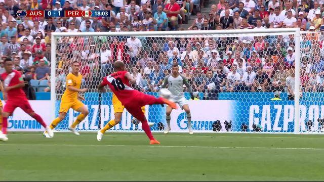 Gr.C, Australie – Pérou (0-1): 18e, belle volée de Carrillo qui ouvre le score [RTS]