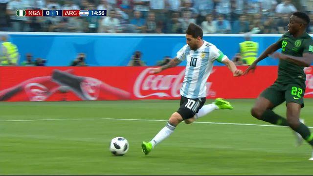 Gr.D, Nigeria – Argentine (0-1): 14e, Messi libère l'Argentine sur une passe magnifique de Banega [RTS]