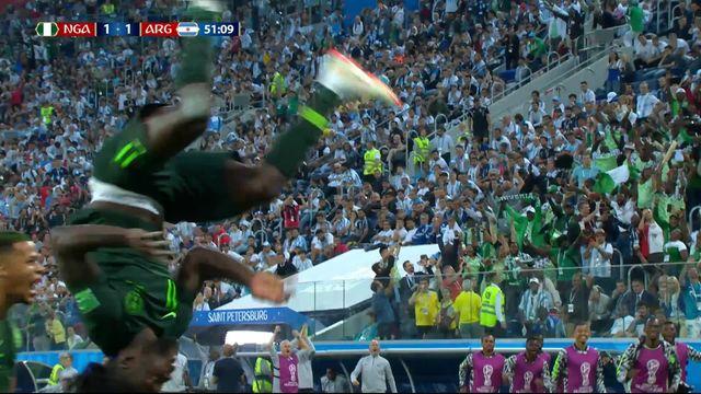 Gr.D, Nigeria – Argentine (1-1): 51e, Moses égalise sur penalty après une faute de Mascherano [RTS]