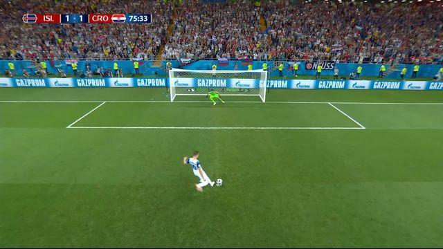 Gr.D, Islande - Croatie (1-1): 76e, Sigurdsson égalise sur penalty [RTS]