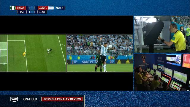 Gr.D, Nigeria – Argentine (1-1): 76e, pas de penalty contre Rojo après consultation du VAR [RTS]