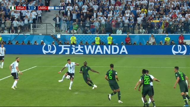 Gr.D, Nigeria – Argentine (1-2): 86e, Rojo donne l'avantage à l'Argentine d'une volée pied droit [RTS]