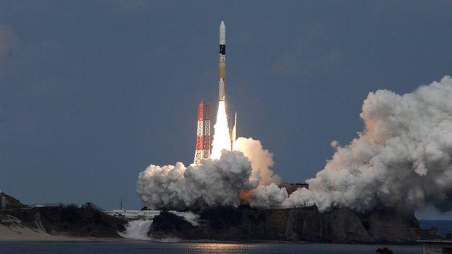 La fusée japonaise H-2A est exploitée par le conglomérat Mitsubishi Heavy Industries (MHI). [EPA/JAXA - Keystone]