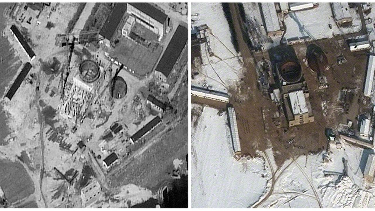 Des images satellite du complexe de Yongbyon prises en 2011 et 2012 (image d'archives). [AP Photo/DigitalGlobe - Keystone]