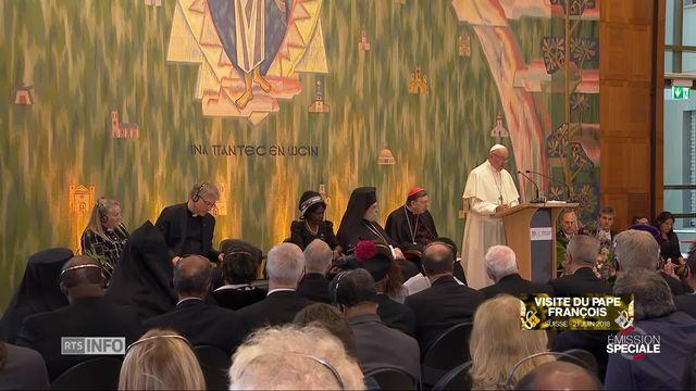 Echanges aux COE avec le pape François [RTS]