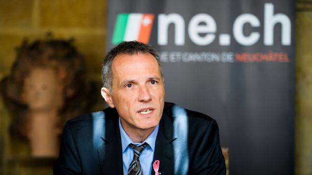 Laurent Kurth, ministre neuchâtelois des Finances et de la Santé. [Jean-Christophe Bott - Keystone]