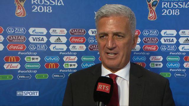 Gr.E, Suisse - Costa Rica 2-2: Vladimir Petkovic au micro de la RTS [RTS]