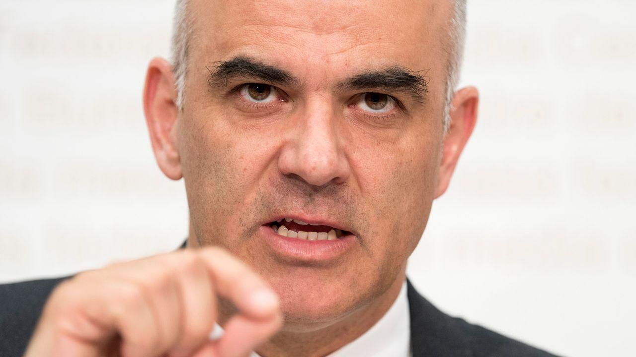 Alain Berset présente la nouvelle réforme de l'AVS. [Peter Schneider - Keystone]