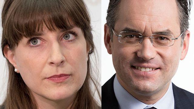 Rebecca Ruiz et Olivier Feller. [Lukas Lehmann/Gaëtan Bally - Keystone]