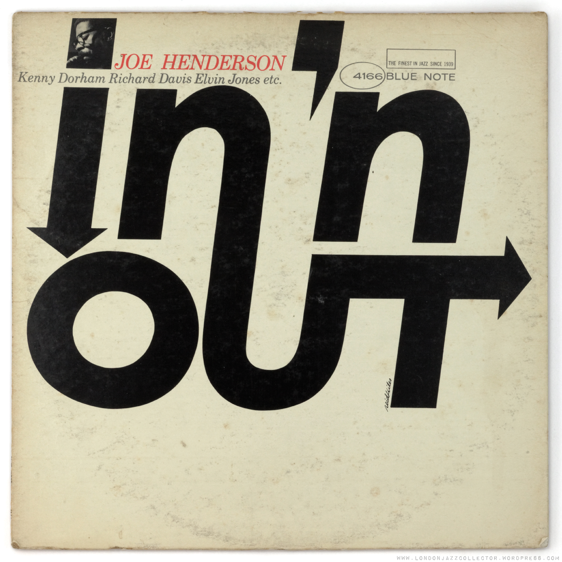 "La pochette de Joe Henderson, ""In'n Out"", sorti en 1964 chez Blue Note."