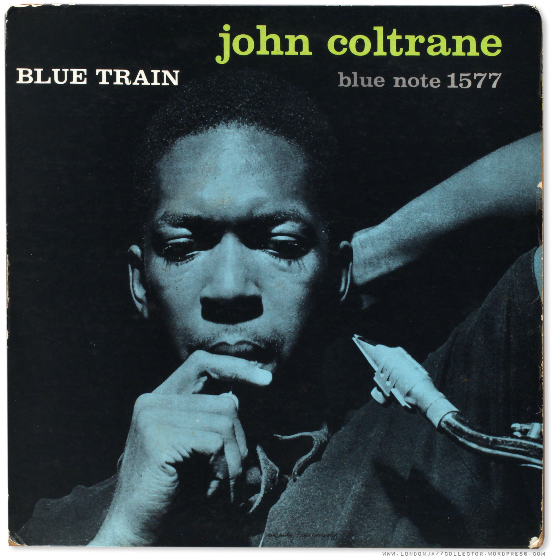 "La pochette de ""Blue Train"" de John Coltrane, album Blue Note 1577."