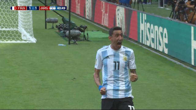 1-8, France – Argentine (1-1) : 41e, splendide frappe de Di Maria qui égalise pour l'Argentine [RTS]