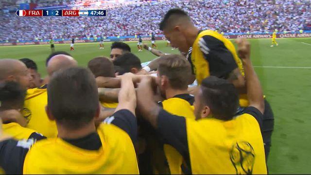 1-8, France – Argentine (1-2) : 48e, Mercado dévie un tir de Messi et donne l'avantage à l'Albiceleste [RTS]
