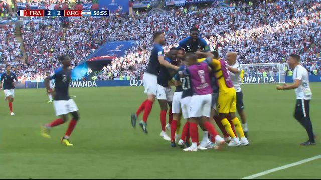 1-8, France – Argentine (2-2) : 57e, superbe reprise de Pavard qui égalise [RTS]