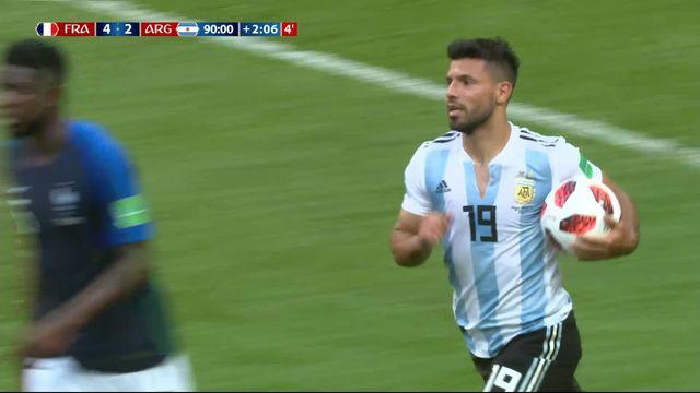 1-8, France – Argentine (4-3) : 90'+3, Agüero redonne espoir à son équipe dans les arrêts de jeu [RTS]