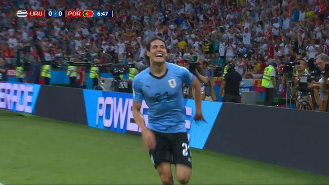 1-8, Uruguay – Portugal (1-0) : 7e, l'Uruguay ouvre le score par Cavani de la tête [RTS]