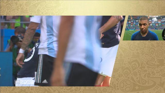 1-8, France – Argentine (4-2) : interview de kylian Mbappé après la victoire française [RTS]