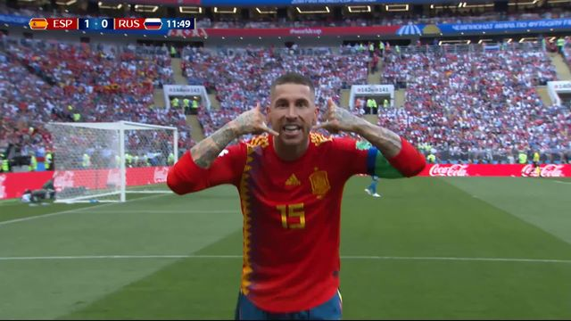 1-8, Espagne– Russie (1-0) : 11e, CSC de Serguei Ignashevich [RTS]