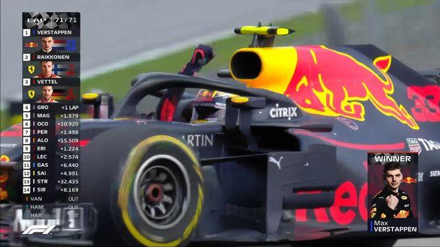 GP d'Autriche: victoire de Verstappen  (NED) devant Raikkonen (FIN) 2e et Vettel (GER) 3e [RTS]