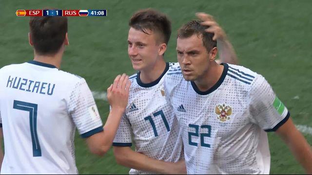 1-8, Espagne– Russie (1-1) : 41e, Artem Dzyuba [RTS]